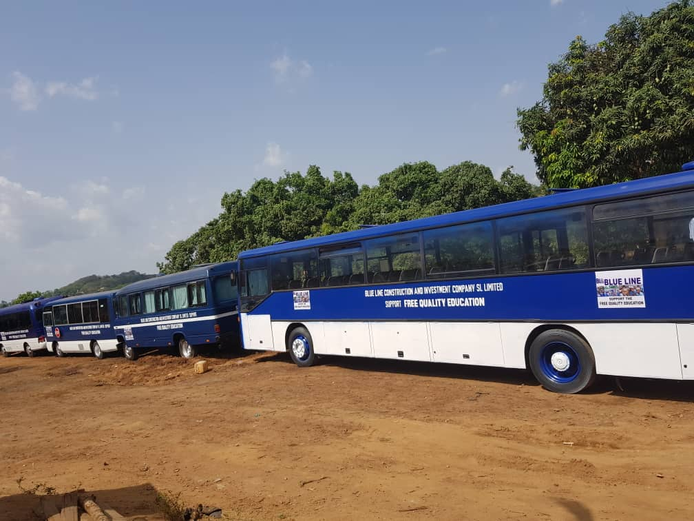 Sierra Leone News Blue Line Provides 40 Buses For Fqe